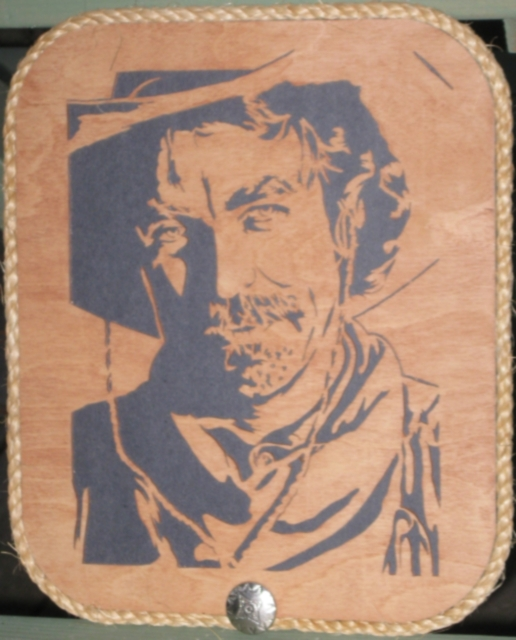 scrollsaw workshop. description: this is a portrait of tom selleck as matthew quigley from the movie, \ scrollsaw workshop
