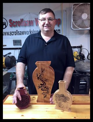 Wooden Vases On The Scroll Saw